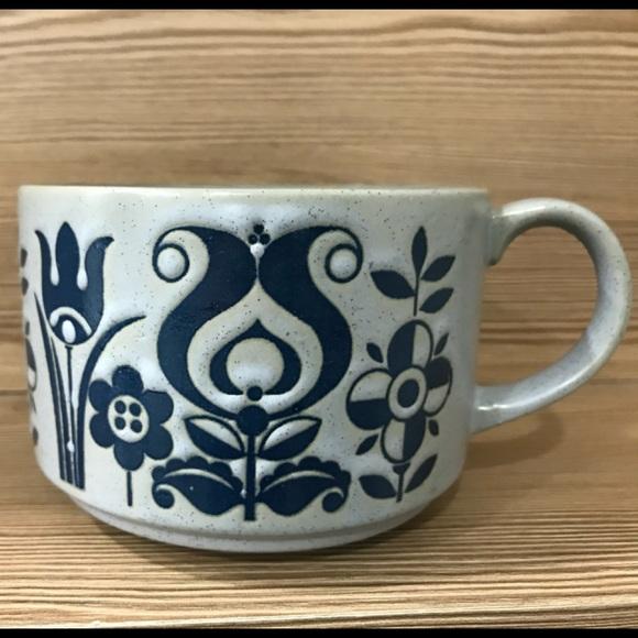 Vintage Other - Superb Blue and gray big mug